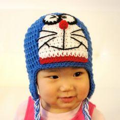 Doraemon+Hat+Ding+Dong+Crochet+Baby+Hat+Baby+por+stylishbabyhats,+$28,99
