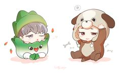 Jimin//Jungkook//FanArt bts omg so cute