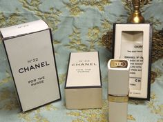 Chanel N 22 Perfume For The Purse 1/5 Fl Oz 6 Ml Nos Interior Box Clean