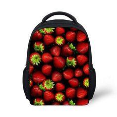 Small Children School Bags For Baby Girls Fruits Strawberry Prints Kids Schoolbags Bolsas Infantil Kindergarten Book Bag Casual