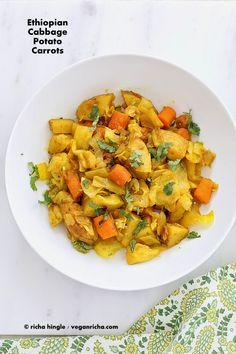 Atakilt Wat - Ethiopian Cabbage Potato Carrots. Vegan Gluten-free Recipe | Vegan Richa