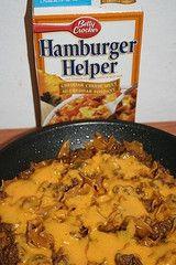 Homemade Hamburger Helper Recipes - Chili Mac, Lasagna, Cheesy Beef Taco, Beef Stroganoff, Salisbury, Cheesy Italian Shells, Jambalaya and Cheeseburger Macaroni.
