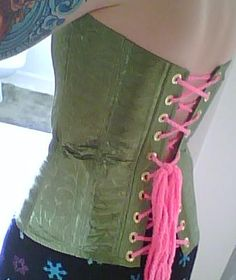 corset from dollar store pillow cases, love the creativity