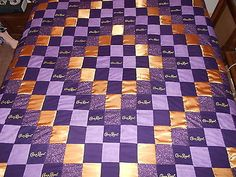 Crown Royal Quilt with Satin Diamond Pattern   eBay