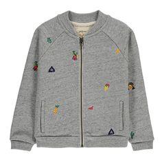 Bellerose Amon Embroidered Sweatshirt Heather grey