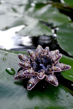 Flower jewelry Lotus necklace Amethyst от PurePearlBoutique