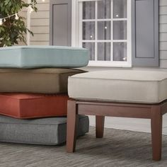 Shop for Isola Outdoor Fabric Ottoman Cushion by NAPA LIVING. Get free delivery at Overstock.com - Your Online Garden