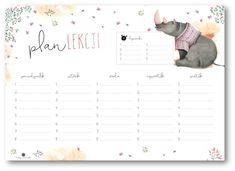 Plan zajęć – Depth of souls Timetable Planner, School Timetable, The Plan, How To Plan, School Plan, Back To School, Printable Planner, Printables, Weekly Planner