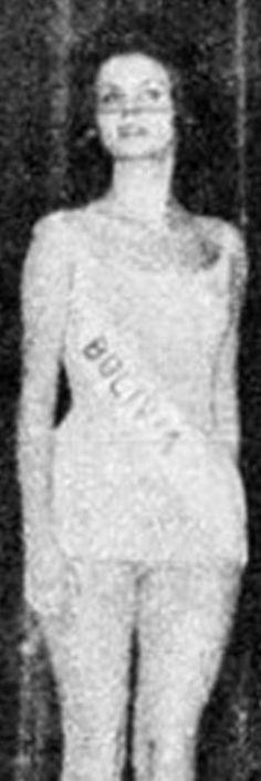 Olga Mónica del Carpio Oropeza - Miss Universe Bolivia 1964