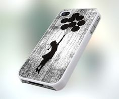 Banksy Girl With Ballon PB0144 Design For IPhone 4 or 4S Case / Cover | mobilefun - Accessories on ArtFire