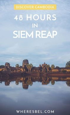 Headed to this temple rich Cambodian city but only have 48 hours to kill? Here's what you should see, do, and eat in Siem Reap, Cambodia! Cool Places To Visit, Places To Travel, Travel Destinations, Travel Things, Cambodia Destinations, Asia Travel, Solo Travel, Japan Travel, Cambodia Beaches