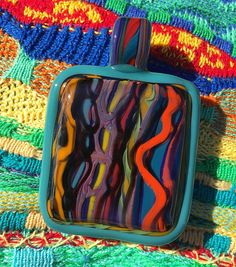 Getting geared up for sweater season This new Coogi Textile pendant will be heading to @42below_ks with some more brand new Coogi work.  Keep a look out for more fresh Textiles headed their way.  #glassofig #coogisweater #coogi #textile #sweater #sweaterweather #pendant #pendantsofig #aboriginalart #highfashion #higherfashion