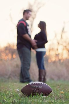 Liv Inspired Photography | NJ Maternity Photography, football maternity