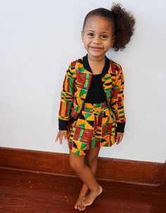 Girls Kente African Print Skirt // Orange Red Green Ankara // Baby Toddler Kids Size - - Women's style: Patterns of sustainability Baby African Clothes, African Dresses For Kids, Latest African Fashion Dresses, African Kids, African Print Skirt, African Print Dresses, African Print Fashion, African Attire, African Wear