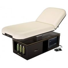 ECLIPSE TILT TOP spa massage table has a beautiful design and is convenient for beauticians, spa, resort with its storage cabinet.