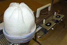 easy bulky standard machine knit stocking hat
