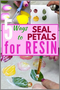 Keep your resin petals and flowers vibrant by sealing them before embedding them. - Keep your resin petals and flowers vibrant by sealing them before embedding them in resin. Why seal - Diy Resin Art, Diy Resin Crafts, Uv Resin, Resin Molds, Diy Arts And Crafts, Diy Resin Mold, Silicone Molds, Diy Resin Projects, Diy Resin Crystals