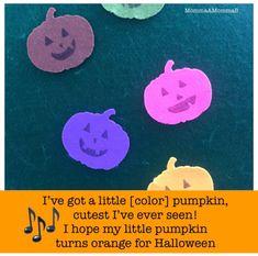 I've got a Little Pumpkin Song and Felt Board for Tot School Halloween Toddler Halloween, Halloween Diy, School Themes, School Ideas, Pumpkin Song, Five Little Pumpkins, Unit Plan, Tot School, Early Childhood
