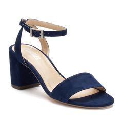Style Charles by Charles David Kim Women's Block Heel Sandals, Size: medium (7.5), Blue (Navy)