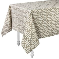 "Kitchen chair seat fabric option - I used a tablecloth for mine!   Threshold™ Trellis Rectangle Tablecloth (60x84"")"