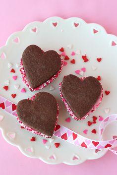 Chocolate Valentine's Sandwich Cookies - Glorious Treats