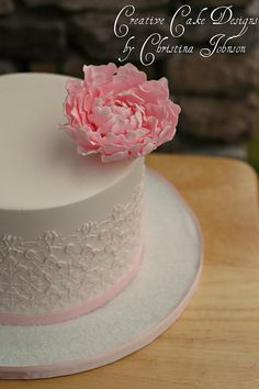 Lace Peony Cake by Creative Cake Designs (Christina), via Flickr