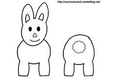 Coloriage lapin pour rouleau de papier wc