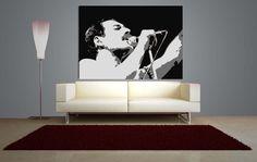 Quadro pop art di Freddie Mercury dipinto a mano di quadripopartsumisura su Etsy