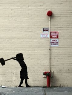 playful gifs of iconic banksy artworks is part of Street art graffiti - Playful GIFs of Iconic Banksy Artworks Streetart Pochoir 3d Street Art, Street Art Graffiti, Urban Street Art, Amazing Street Art, Street Artists, Urban Art, Banksy Graffiti, Graffiti Kunst, Bansky
