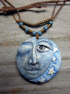 Fun polymer clay faces. Alone Star Jewelry