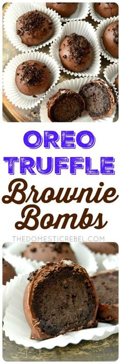 These Oreo Truffle Brownie Bombs are no-bake, 2-ingredient Oreo truffles surrounded by a fudgy baked brownie and coated in milk chocolate! Easy, impressive and perfect for any chocoholic! These would make GREAT gifts!