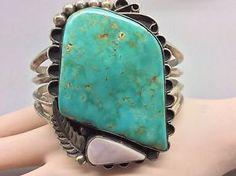 Navajo Kingman Turq Pink Mother of Pearl Sterling Bracelet   eBay