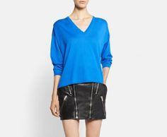 Saint Laurent | Neon Blue Sweater