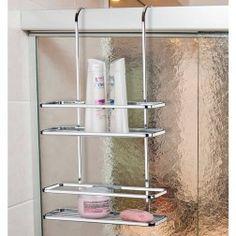 Suporte de Shampoo e Sabonete para Encaixe no Box em Aço Cromado - 5 Anos de Garantia