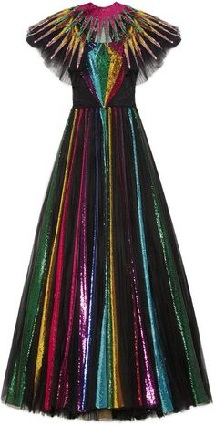 Gucci embroidered sequin tulle gown.