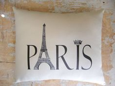 Paris Pillow, French Country Home, .. on Luulla