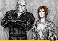 Triss Merigold,Witcher Персонажи,The Witcher,Ведьмак, Witcher, ,фэндомы,Geralt,NastyaKulakovskaya,Кулаковская А.В.,artist