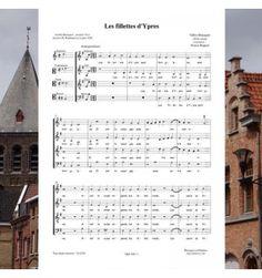 Gilles BRACQUET : Les fillettes d'Ypres - Musique de la Renaissance pour choeur à 4 voix mixtes.  Editions Musiques en Flandres  - référence  : MeF 496