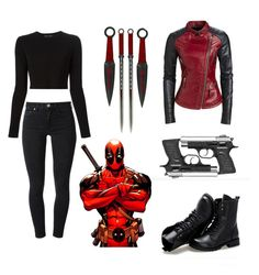 """""""Deadpool: The Greatest Marvel Character"""" by pjprincess14 on Polyvore featuring Poste, Sunsteps, Acne Studios and Proenza Schouler"""