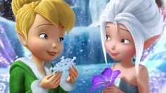 Periwinkle the frost fairy with her sister Tinkerbell.