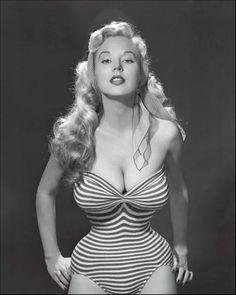 Betty Brosmer her measurements were an astonishing 38-18-36 inches