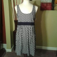 Black & White Print Sun Dress Enjoy this simple Sun dress with diamond shapes designs and solid black waist band. New with tags Michael Kors Dresses