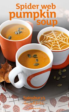 This warming, gently-spiced pumpkin soup recipe is perfect for a chilly autumn day. Pipe a fun spider-web design with crème fraîche to make it spooky and serve it as a part of a delicious Halloween party spread