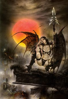 Luis Royo - Black Tinkerbell. I love his art. It's all so dark and sensuous.