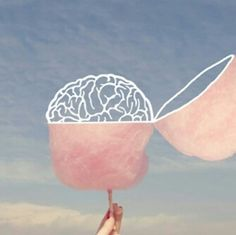 #Cotton candy #Brain #Sky  brain