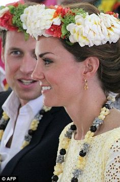 William and Kate at Funafuti in Tuvalu