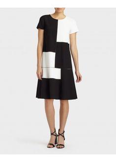 Millennium Crepe Rafaella Colorblock Dress