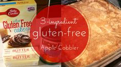 Easy, gluten-free apple cobbler|dump cake using only 3 ingredients. Check out this recipe and more on Sweet Sorghum Living. #3ingredientrecipes #glutenfreerecipe #glutenfreedessert