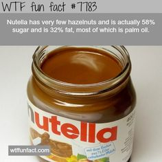 Fun facts-won't be buying Nutella ever again