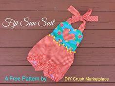 Free Fiji Sun Suit Sewing Pattern - https://www.youtube.com/watch?v=SJJd-e63uMA